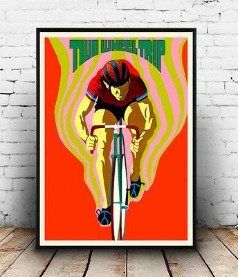 Two Wheel Trip . Vintage Cycling Poster Reproduction. • 3.99£