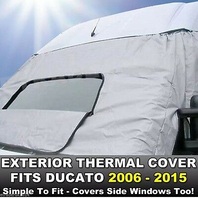 FIAT DUCATO 06-19 Motorhome Exterior External Window Thermal Blinds Screen Cover • 48.98£