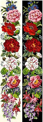 Berlinwork Bell Pull 1 Flower Counted Cross Stitch Kit Or Chart 14s Aida • 47£