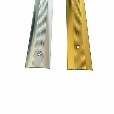 Cover Strip -  Carpet Metal -  Door Bar Trim - Threshold - Brass/Silv​er • 1.99£