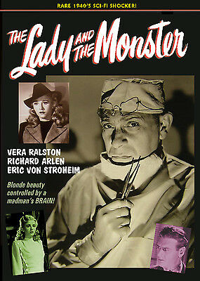 £10.60 • Buy LADY AND THE MONSTER - RARE 1940's HORROR FILM! ERIC VON STROHEIM DVD
