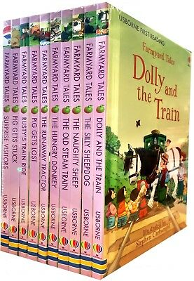 £16.47 • Buy Usborne First Reading Farmyard Tales Collection 10 Books Set The Runaway Tractor