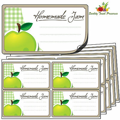 32 Large Apple Jam Jar Labels. Luxury Self Adhesive Stickers For Preserves • 3.95£