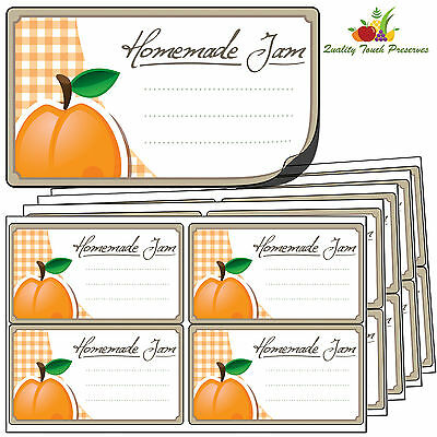 32 Large Apricot Jam Jar Labels. Luxury Self Adhesive Stickers For Preserves • 3.95£