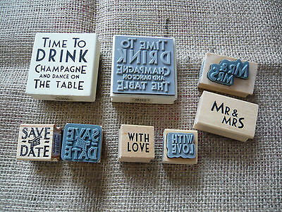 East Of India Rubber Stamp / Save The Date / Mr&mrs / With Love / Time To Drink • 2.50£
