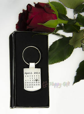 £8.90 • Buy Engraved CALENDAR Design The Day You Became My ..- Personalised - Metal - BOXED