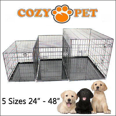 £32.99 • Buy Dog Cage Cozy Pet Dog Crate Puppy Crate 5 Sizes Black Travel Folding Cat Crate