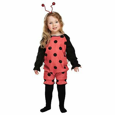 Lady Bug Costume Toddler Fancy Dress 2-4 Years Kids Red Ladybird Cute • 5.29£