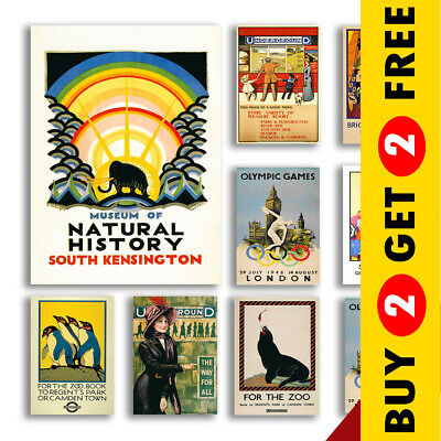 £7.99 • Buy Vintage London Travel Posters, A3 A4 Size Retro Wall Art Prints Valentines Day