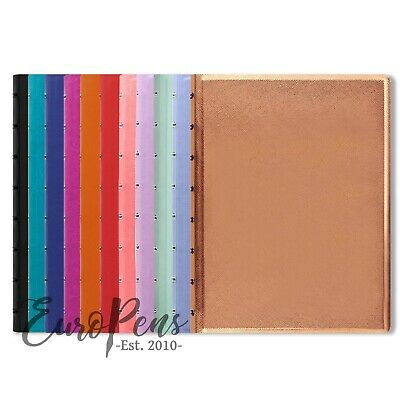 Filofax A5 Size Refillable  Leather-Look  Ruled Notebook - Choose Colour • 12.99£