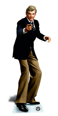 £38.99 • Buy Roger Moore Secret Agent Spy LIFESIZE CARDBOARD CUTOUT / STAND UP / STANDEE