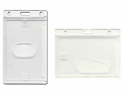 ID Card Holder Enclosed Oyster Pass Badge Holder Secure Enclosed. FREE POST!! • 2.29£