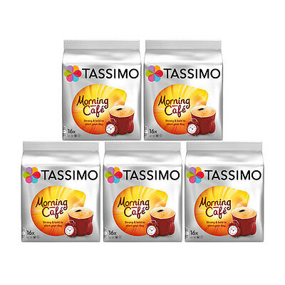 Tassimo T Discs Morning Cafe 5 X 16 Coffee Pods 80 Drinks • 19.95£