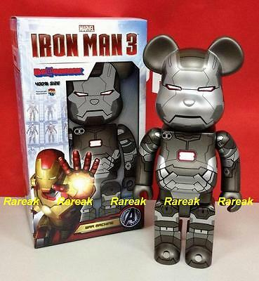 $665.99 • Buy Medicom Be@rbrick 2013 Marvel Avengers Iron Man 3 400% War Machine Bearbrick 1p