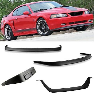 $78.99 • Buy Fits 99-04 Mustang Mach 1 Chin Spoiler N Grille MOD - All Mustangs FREE SHIPPING