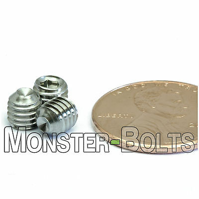 $4 • Buy M5 X 5mm - Qty 10 - DIN 916 CUP Point Socket Head Set Screw Stainless Steel A2