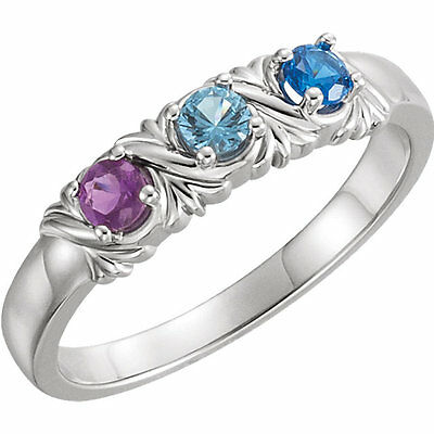 $90 • Buy Mother's Day Jewelry Sterling SILVER Mother's Birthstone Ring 1-6 Stones
