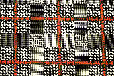 £7.99 • Buy Patchwork Dogtooth Check Squares Stretch Cotton Elastane Twill Fabric 56  Width
