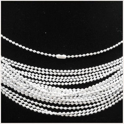 $ CDN17.34 • Buy LOTS Of 20-500PCS Silver Plated Spherical Metal Necklace Finding 19 S