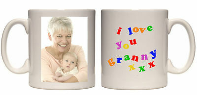 Christmas Gift I Love You Granny Personalised Mug Custom Xmas Present Your Photo • 8.99£
