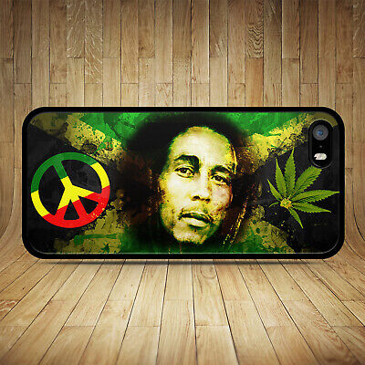 Bob Marley 2 Rasta Weed Phone Case Iphone 4s 5s Se 5c 6 6s 7 8 Plus X Xr 11 Pro • 6.99£