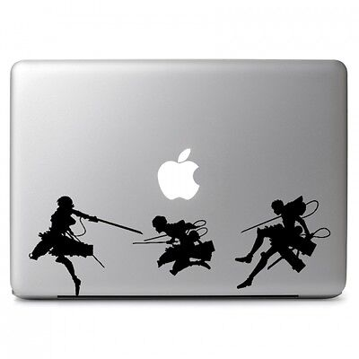 $12.40 • Buy Attack On Titan Vinyl Sticker Decal For Macbook Air/Pro Dell HP Laptop Car Decor