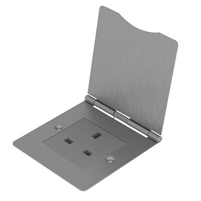 NEW BG 1-Gang Unswitched Brushed Steel Floor Socket • 22.27£