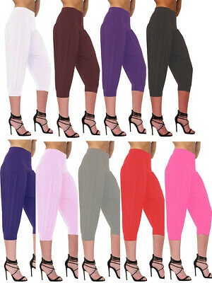 Ladies Women Ali Baba**3/4**baggy Trouser Cropped Legging Hareem Pants Harem • 5.99£