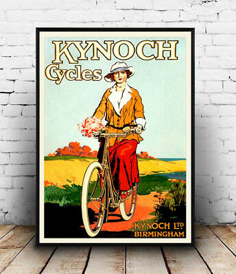Kynoch Cycles,  Vintage  Cycling Advert  Poster Reproduction. • 10.99£