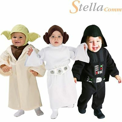Toddler Star Wars Costumes Fancy Dress 80s Film Halloween Kids Romper Outfit • 20.48£