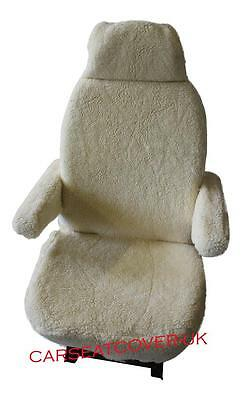 Hymer Luxury Motorhome Seat Covers - Faux Sheepskin + Armrest Covers • 68.99£