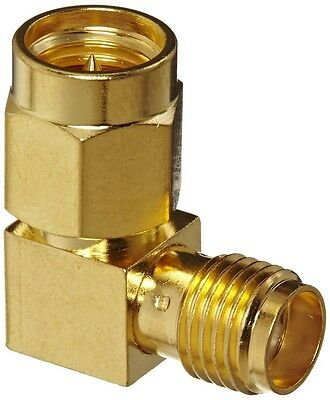 £2.69 • Buy SMA Right Angle Gold 90 Degree Female Socket To Male Plug Coupler Elbow  Adaptor