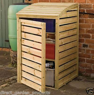 Wooden Garden Recycling Box Storage Pressure Treated Lifting Lid Recycle Store • 139.94£