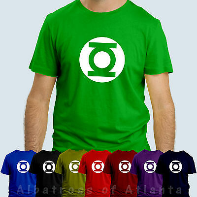 GREEN LANTERN T SHIRT Big Bang Theory Tshirt Sheldon Cooper Unisex T-shirt Tee • 4.49£