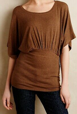 $ CDN61.82 • Buy Bordeaux Ribbed Kimono Tee Jersey Top Size X-Small, Large NW ANTHROPOLOGIE Tag