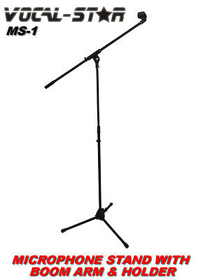 £18.99 • Buy Vocal Star MS-1 Microphone Stand With Boom Arm & Microphone Holder