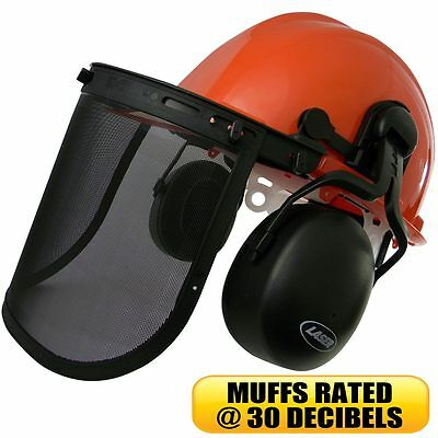 £17.57 • Buy Chainsaw Safety Helmet With Ear Muffs & Face Shield