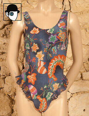 AU29.61 • Buy VINTAGE 80s 'ECUME' SWIMSUIT - UK 10 - FR 38 - D 36