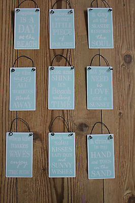 Metal Signs,hanging Beach Themed Phrases,choice Of Nine  • 5.49£