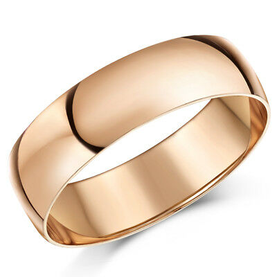 9ct Rose Gold Ring D Shaped Men's Women's Solid & Hallmarked Wedding Ring Band  • 86.81£