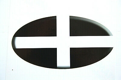 Cornwall County Flag Car Sticker 3D Embossed Effect Plain (165-4) • 5.50£