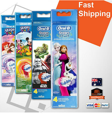 AU23.95 • Buy #Oral-B Braun Kids Child Mickey, Princess Or Cars Replacement Heads