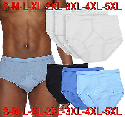 Mens Cotton Y Fronts Briefs Underwear 3,6 Or 12 Pack Lot S M L XL 2XL 3XL 4XL 5X • 6.95£