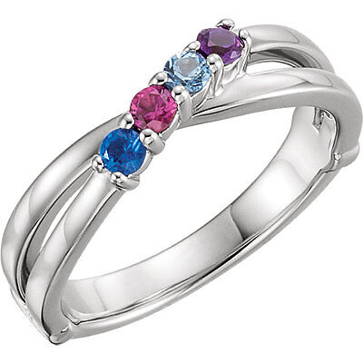 $85 • Buy Mother's Day Jewelry Sterling SILVER Mother's Birthstone Ring 1-6 Stones