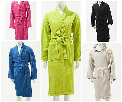 Unisex 100 % Soft Cotton Towelling Bathrobe Dressing Gown All Standard Sizes • 12.49£