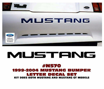 $25.80 • Buy GE-N570 1999-04 FORD MUSTANG - GT Or LX - REAR BUMPER LETTER DECAL KIT - LICENSE