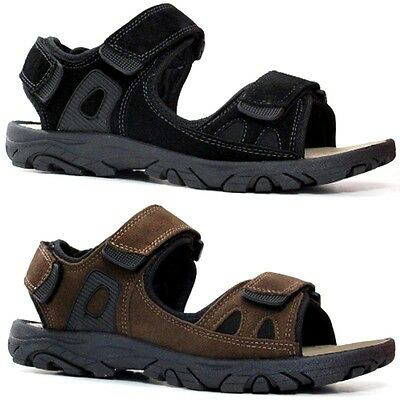 Mens Leather Strap Walking Summer Beach Mules Gladiator Sandals Shoe Size • 9.95£