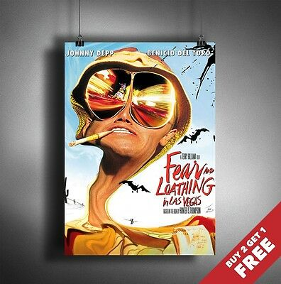 FEAR AND LOATHING IN LAS VEGAS Poster A3 / A4  Classic Movie Art Print Home Deco • 7.99£