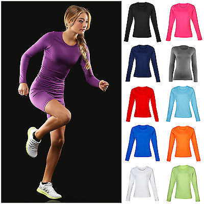 Ladies Womens Base Layer Long Sleeve Compression Armour Top Thermal Gym Sports • 21.45£