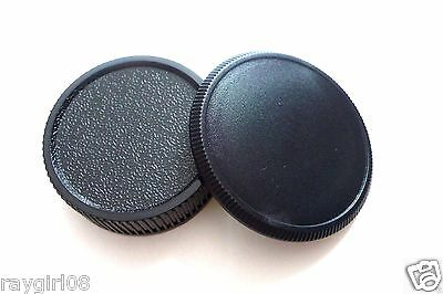 $5.68 • Buy New For Leica And All M39 Rangefinder Camera Lens Rear Cap + Camera Body Cap